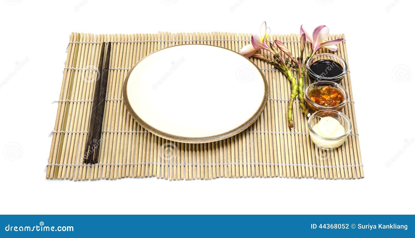 Piatto vuoto dell alimento giapponese