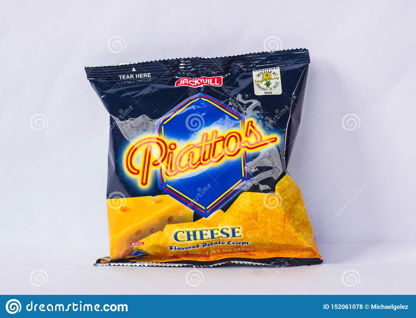 Piattos ost smaksatte chips vid stålar 'n Jill