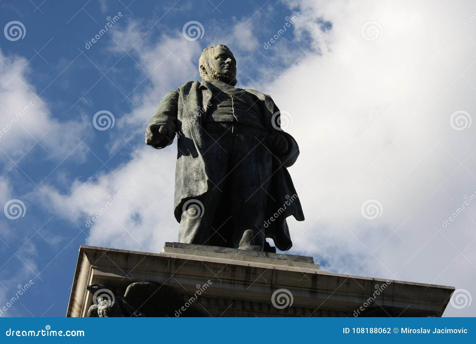 Piazza Cavour con il monumento di Cavour a Roma, Italia