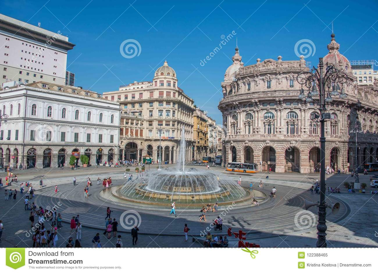 Piazza de Ferrari στη Γένοβα