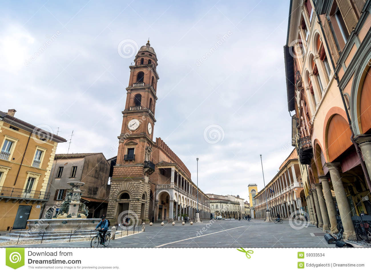 Faenza Italy  city pictures gallery : FAENZA, ITALY MARCH 9, 2015: day view of Piazza del Popolo in Faenza ...