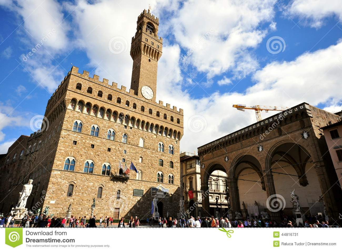 City Of Florence: Piazza Della Signoria In Florence City Center , Italy