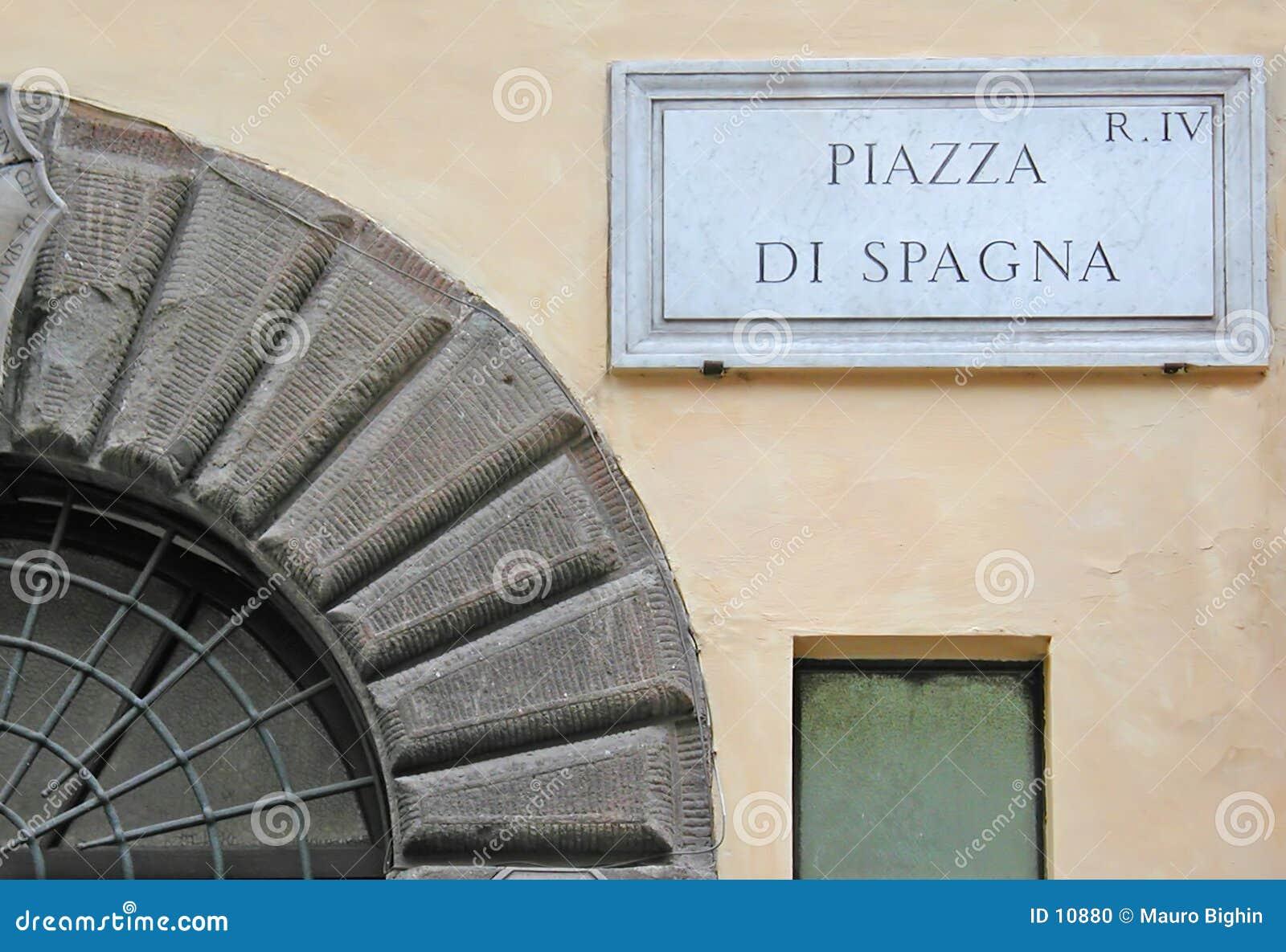 Piazza di Spagna sign - Rome - Italy