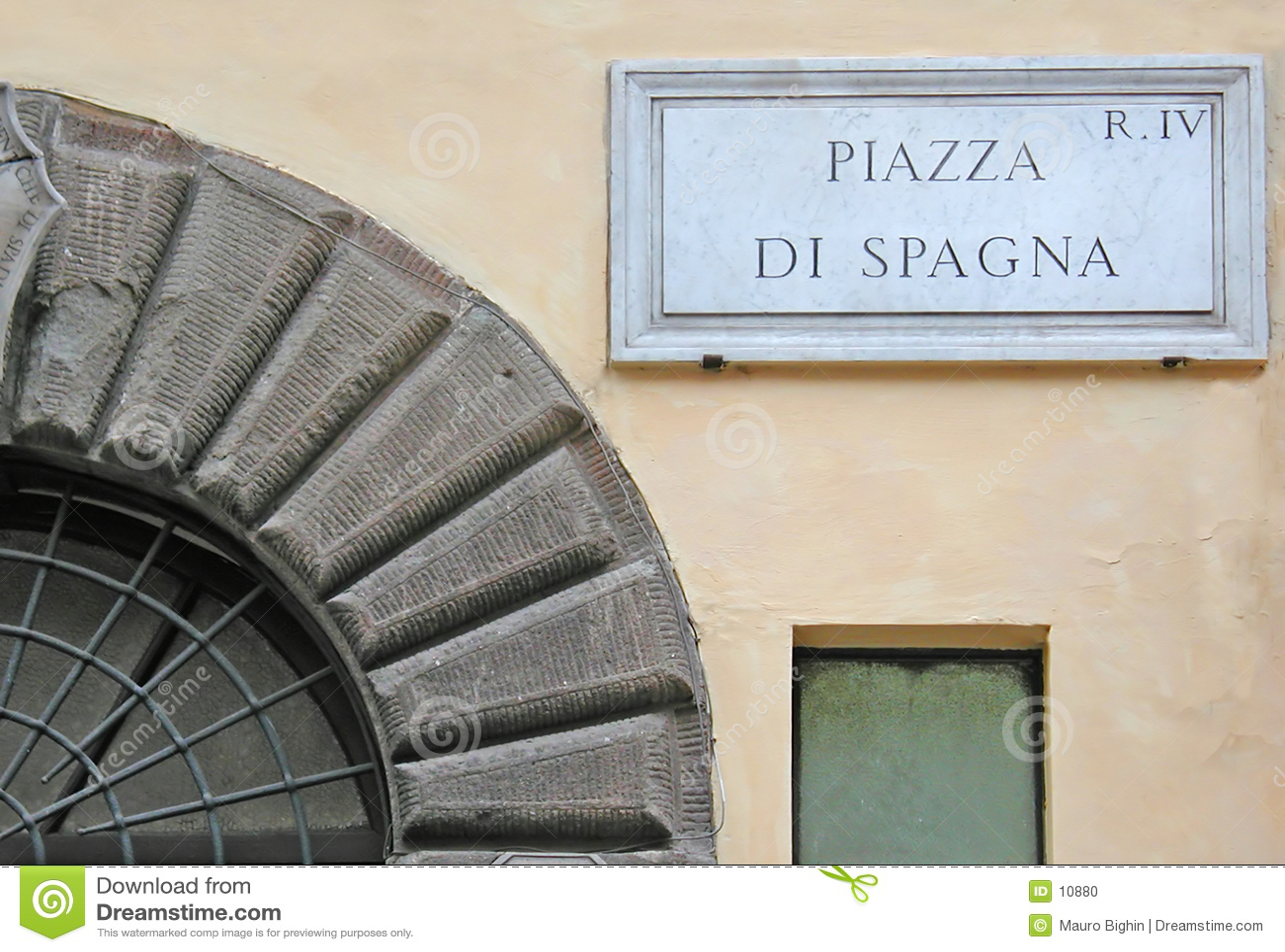 Piazza di Włochy Rzymu znaku spagna