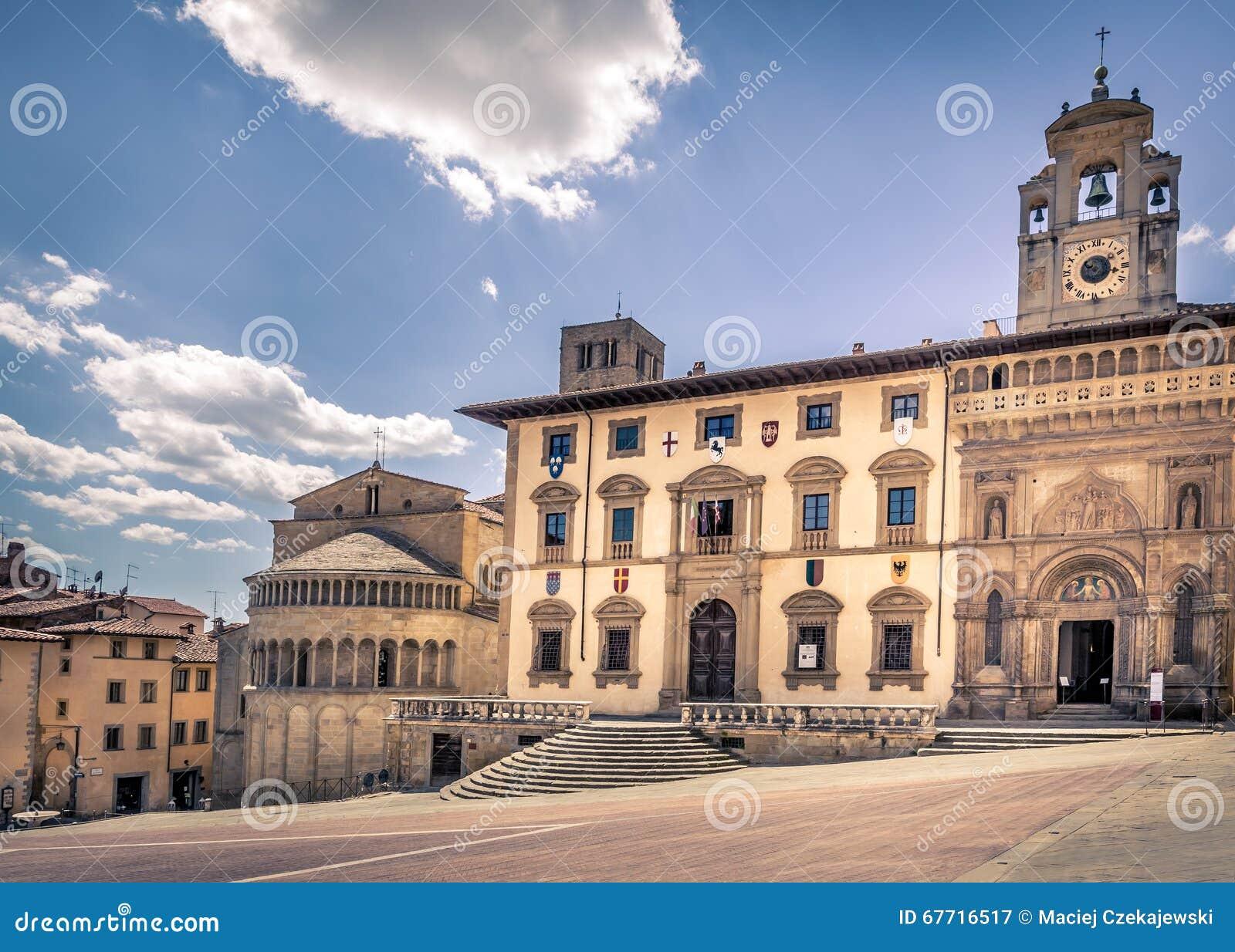 Piazza Grande a Arezzo, Italia