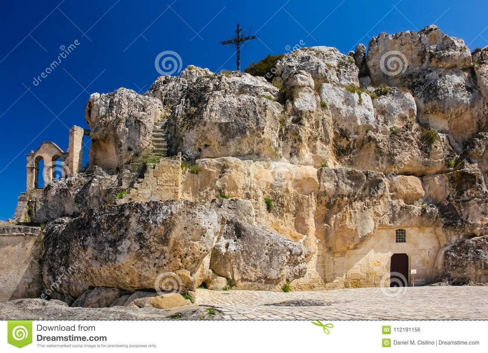 Piazza Madonna de Idris. Matera. Basilicata. Apulia or Puglia. Italy