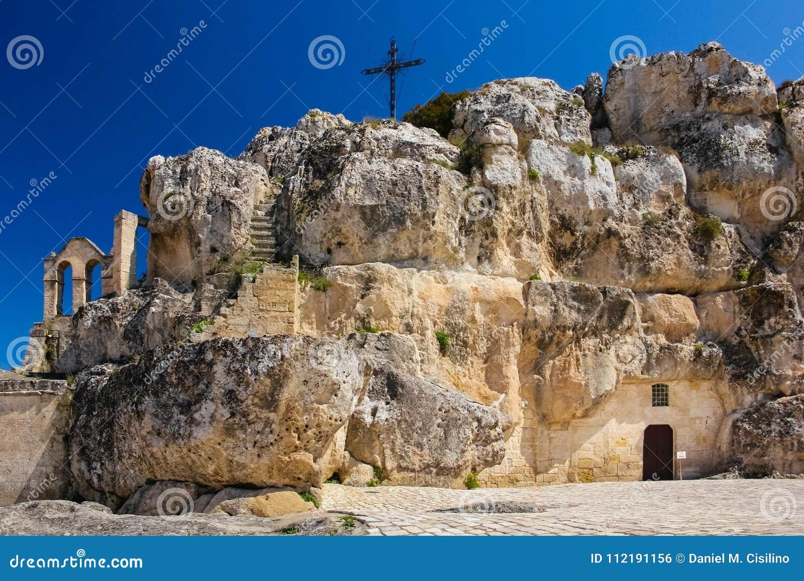 Piazza Madonna de Idris Matera Basilicata Apulia eller Puglia italy