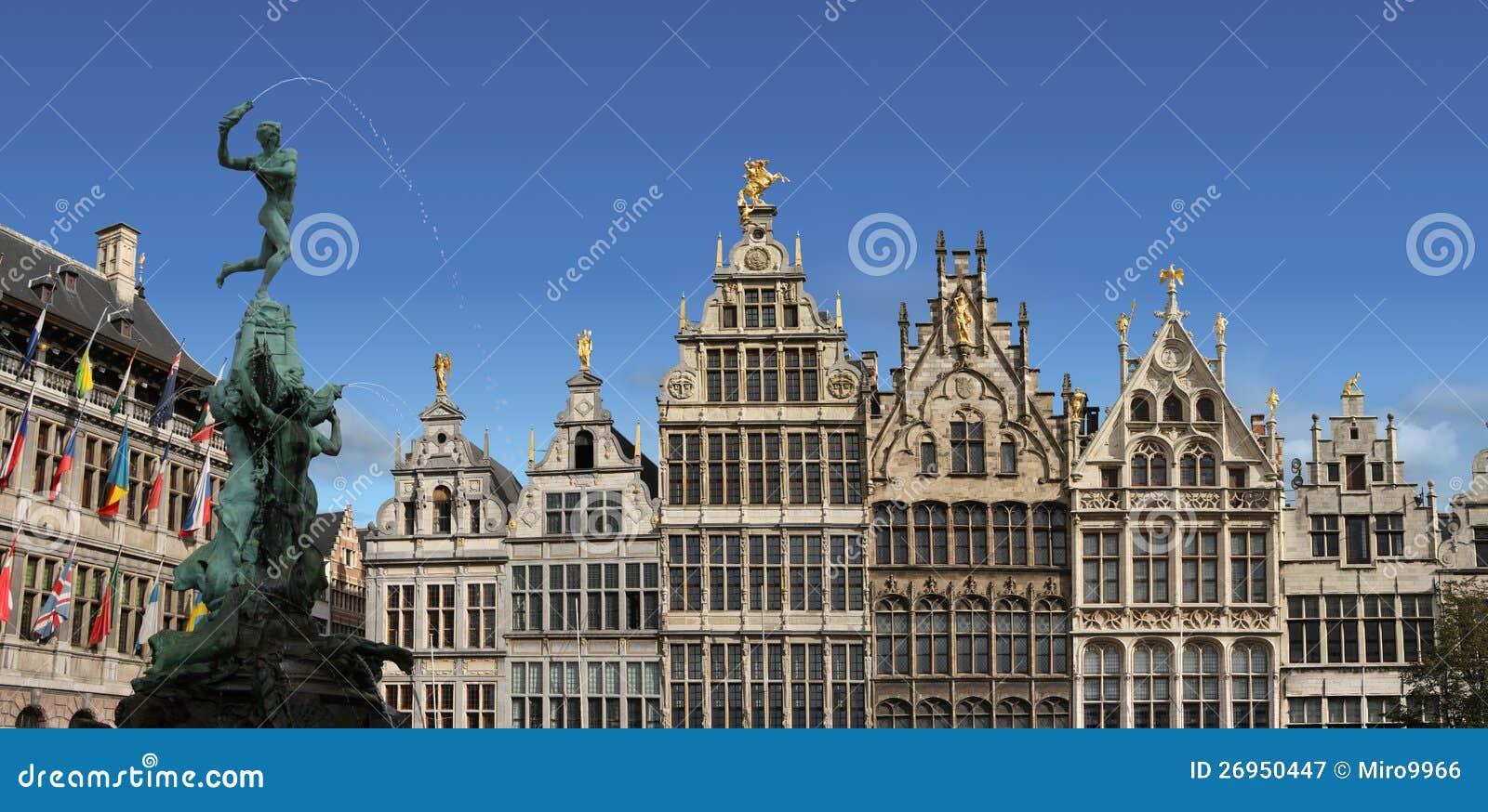 Piazza principale di anversa belgio immagine stock - Casa anversa prezzi ...