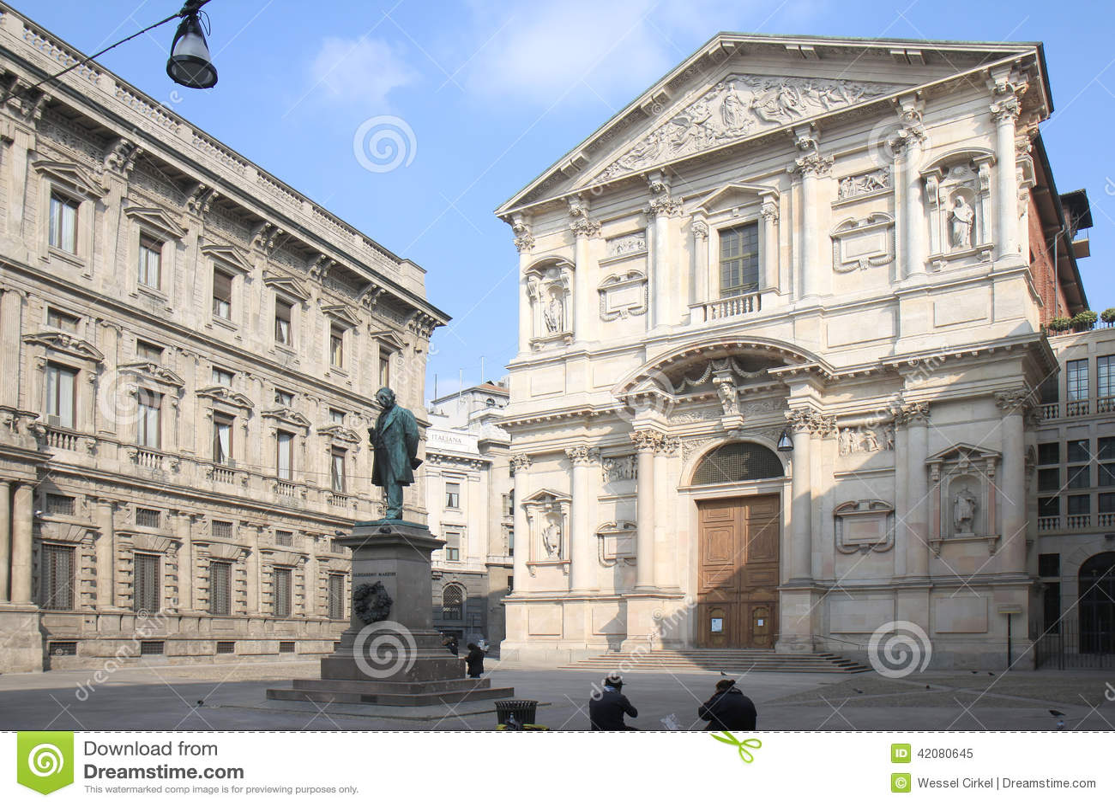 Piazza San Fedele i Milan, Italien