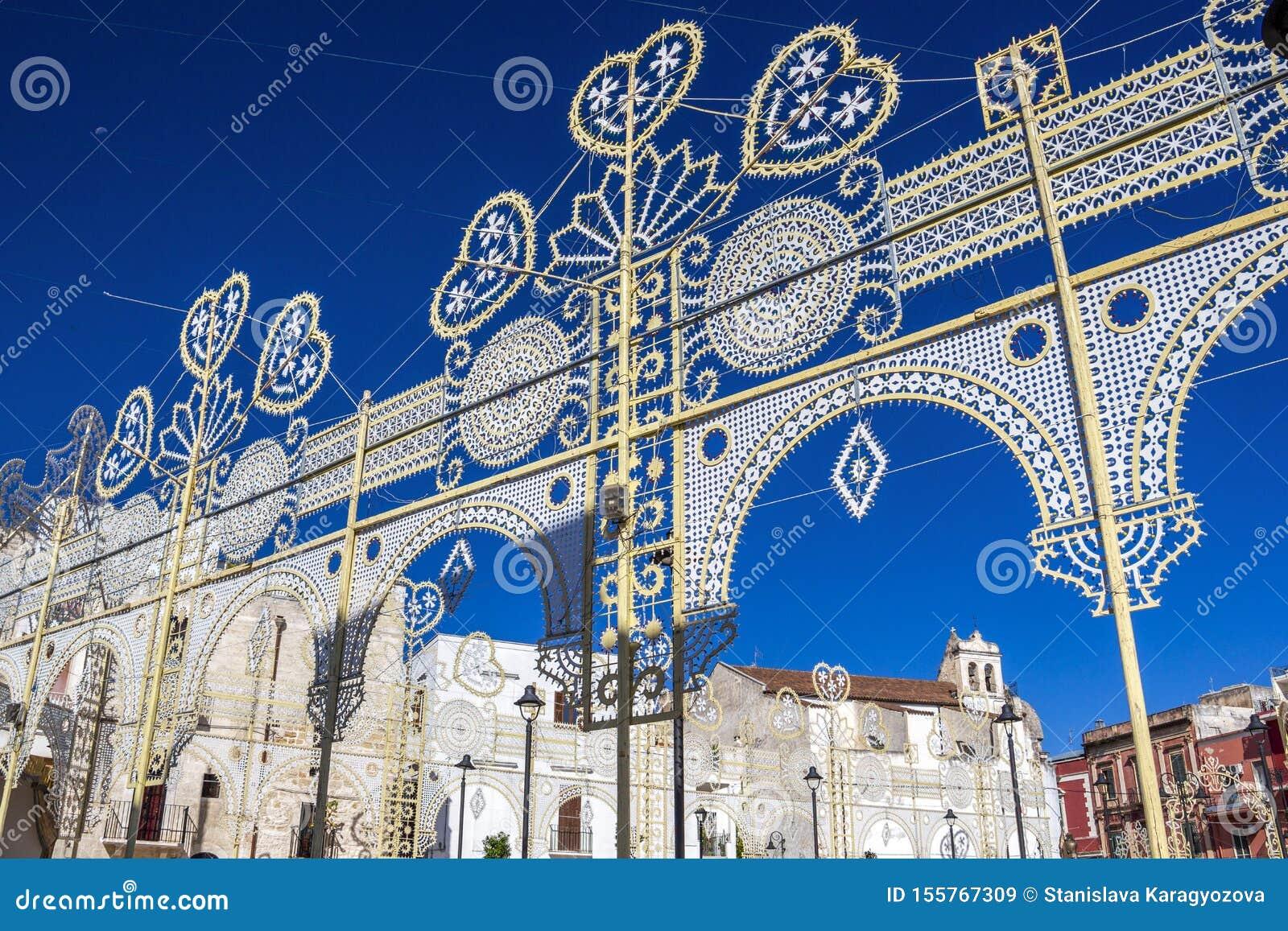Saint Roch`s Feast street decoration