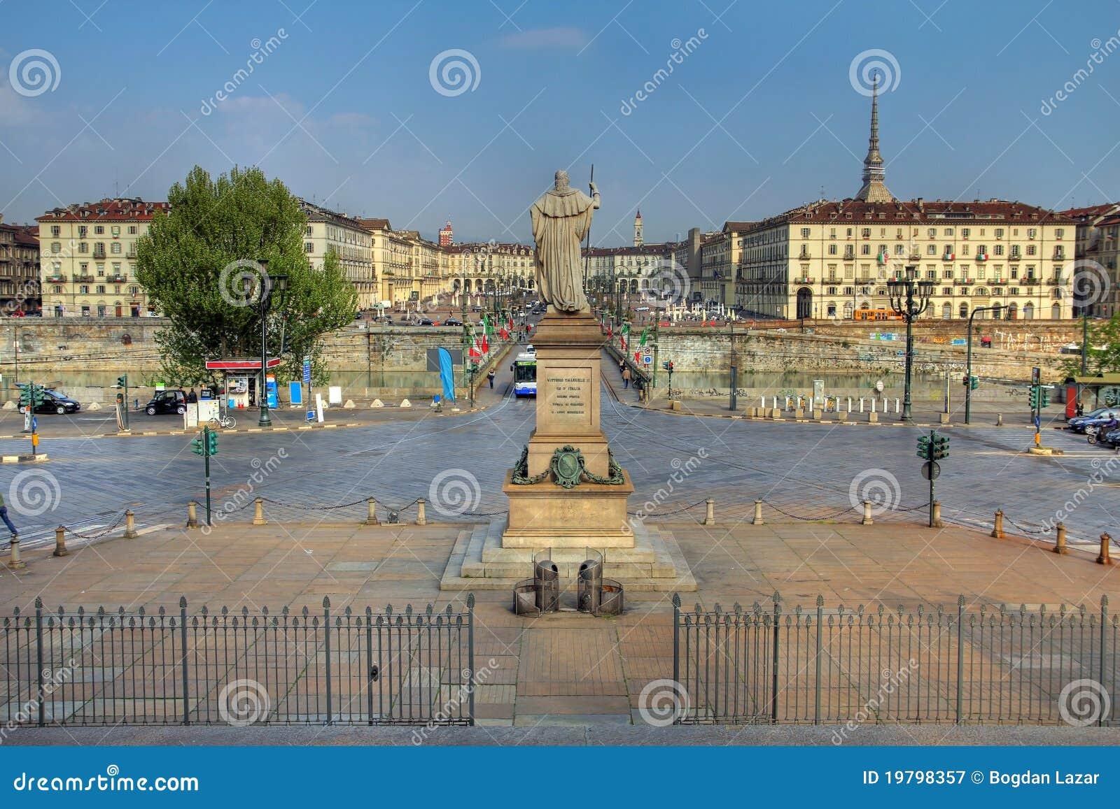 Vittorio Veneto Italy  City pictures : View of the Vittorio Veneto Square in Turin Torino , Italy from the ...