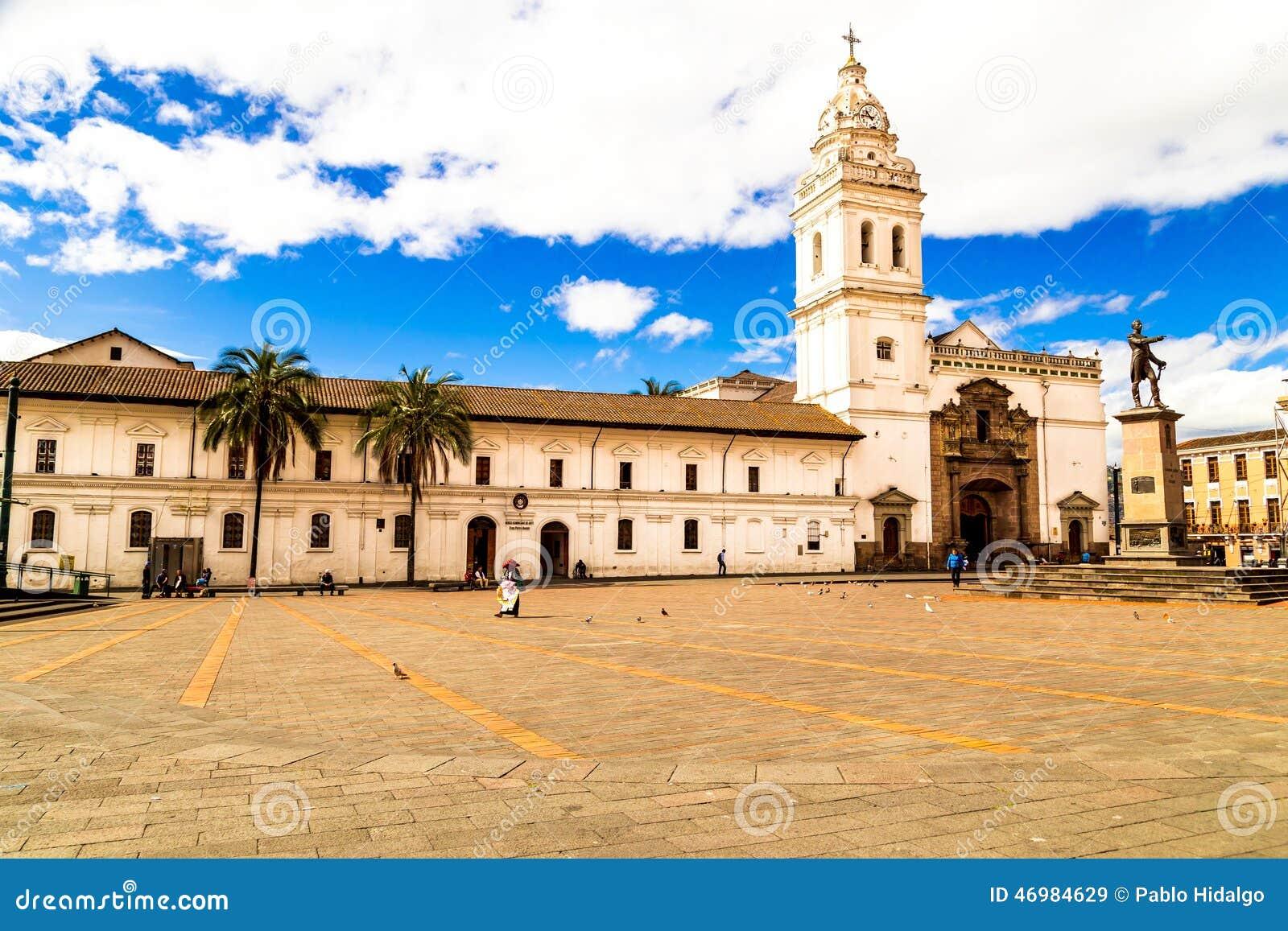 Piazzade Santo Domingo Quito Ecuador South Amerika