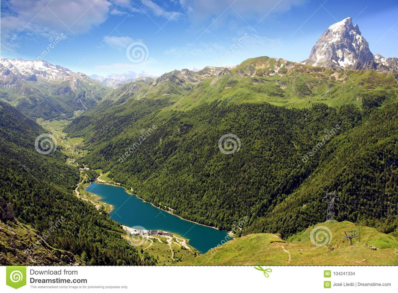 The Pic du Midi d`Ossau in the French Pyrenees.