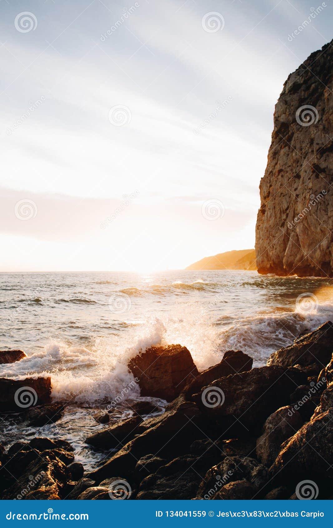 Sunset Beach Background stock image  Image of horizon