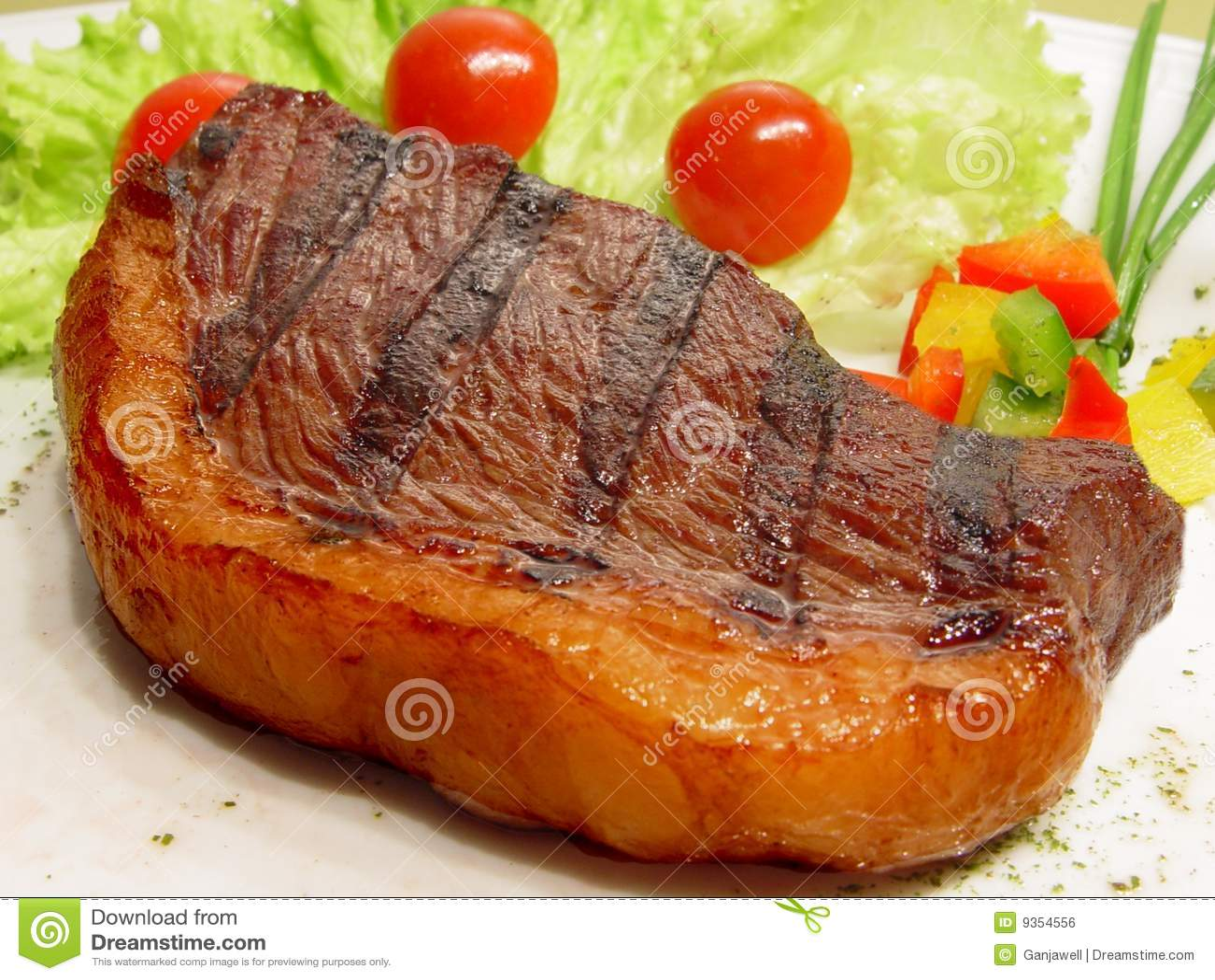 Picanha, Tapa de Cuadril, Steak with salad