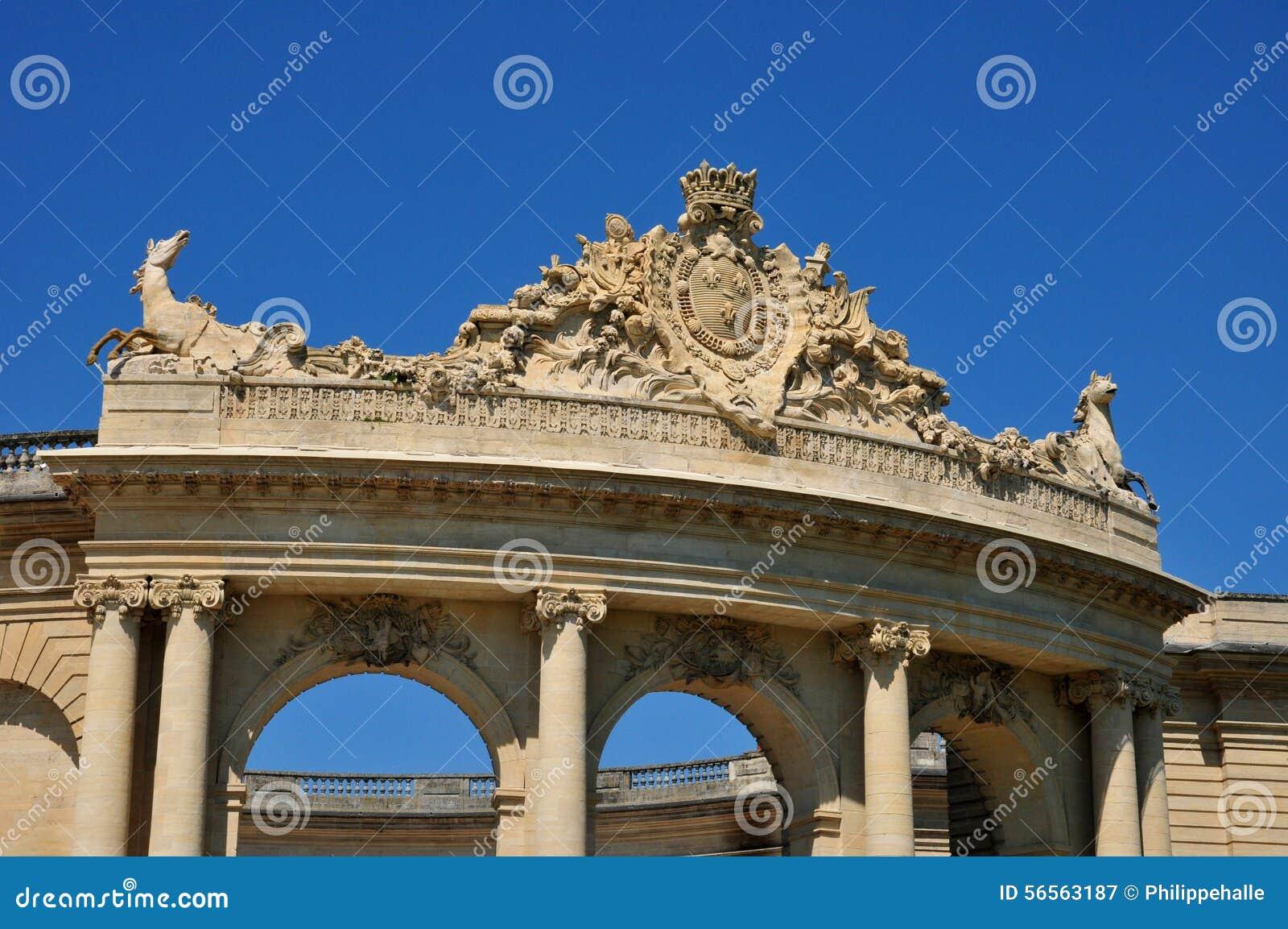 Download Picardie, το γραφικό κάστρο Chantilly Oise Στοκ Εικόνα - εικόνα από τουρισμός, αρχιτεκτονικής: 56563187