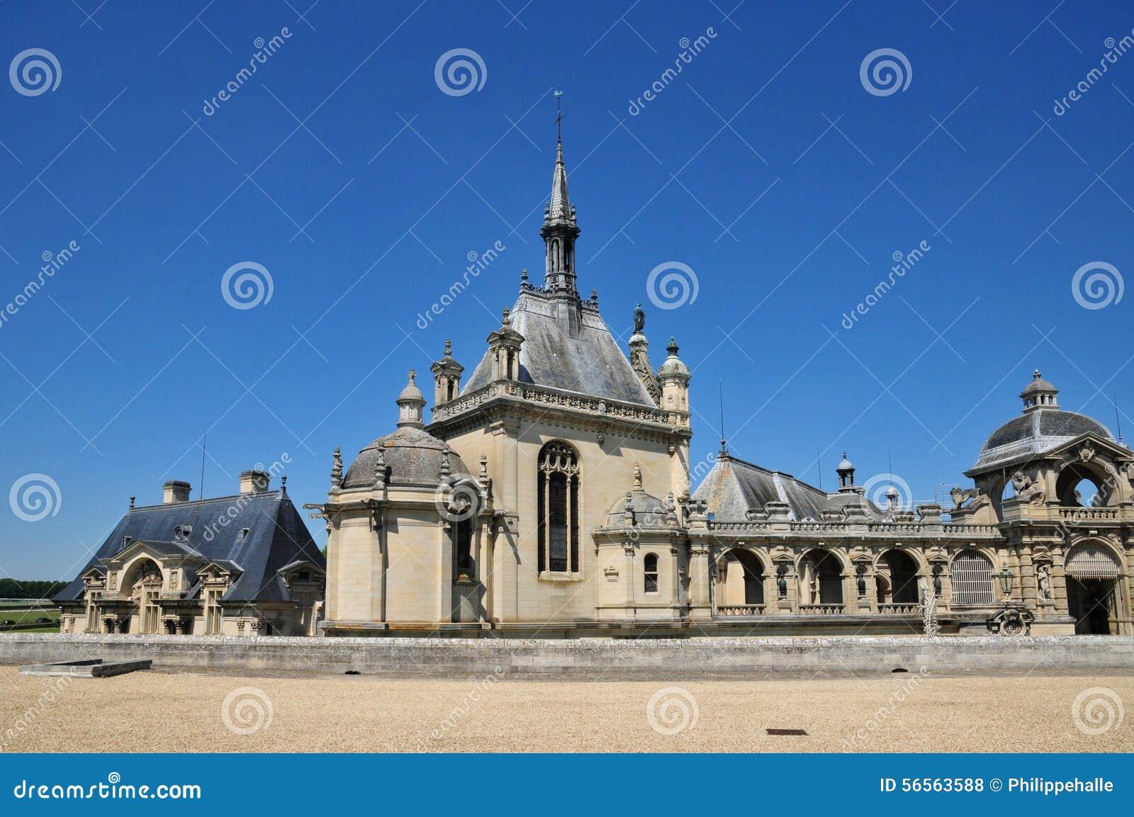 Download Picardie, το γραφικό κάστρο Chantilly Oise Στοκ Εικόνες - εικόνα από γαλλία, oise: 56563588