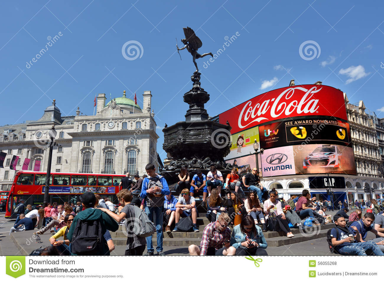 London Uk May 14 2015visitors In Piccadilly Circus London Uk With Nearly 100 Million Tourists Visiting Piccadilly Each Year It One Of The Most Famous