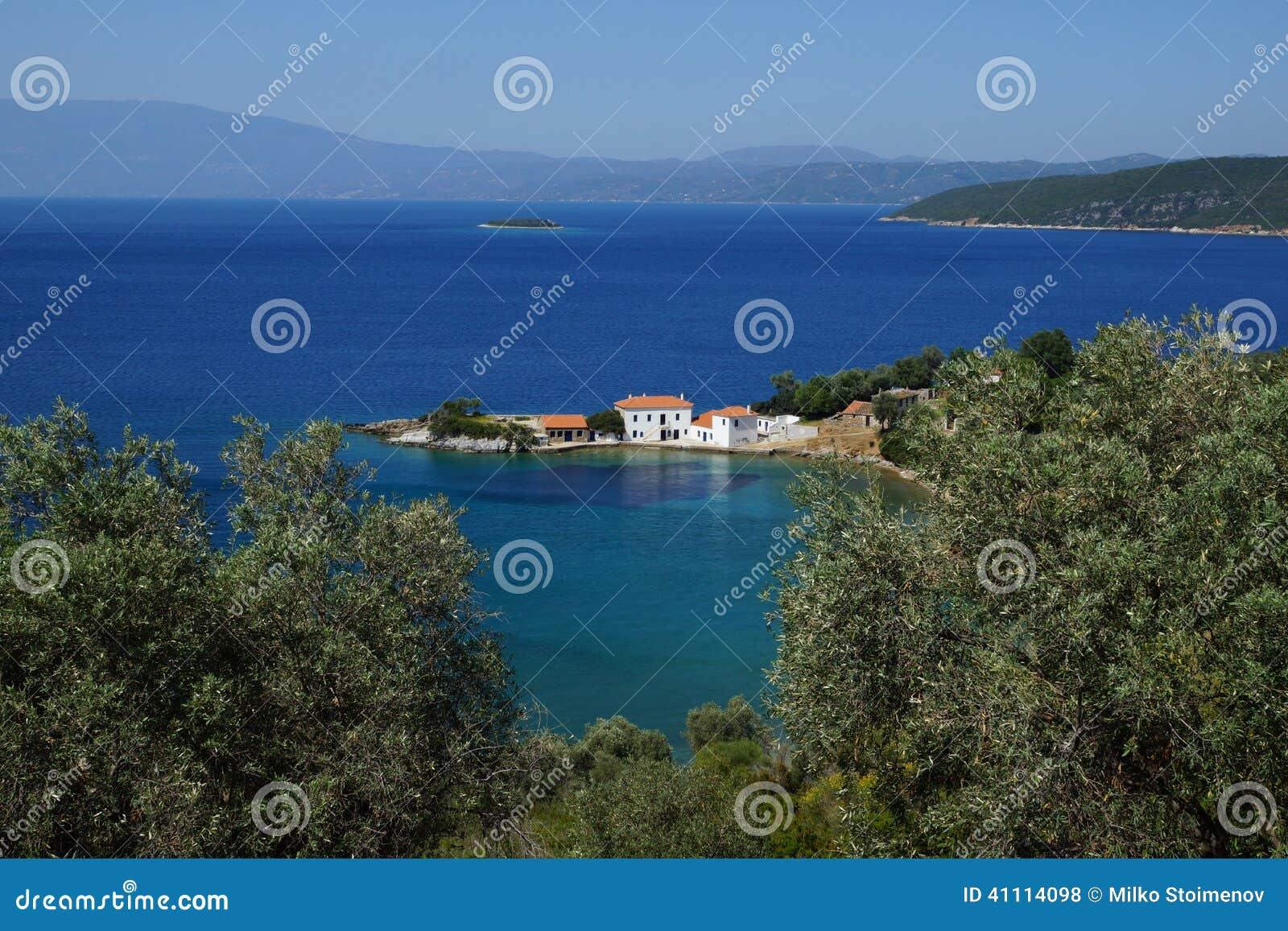 Piccola baia, Pelio del supporto, Tessaglia, Grecia