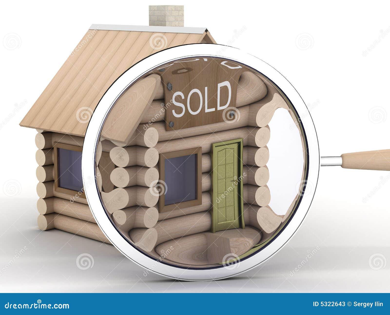 Download Piccola Casa E Magnifier Di Legno. Illustrazione di Stock - Illustrazione di apparecchiatura, fine: 5322643