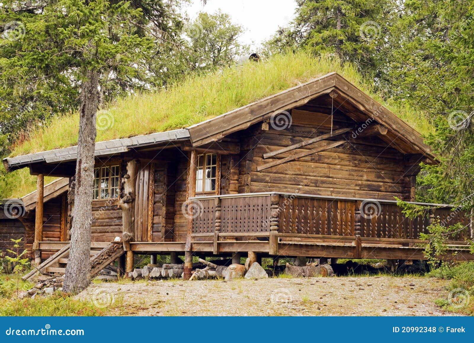Piccola casa su una foresta alle montagne della norvegia for Casas en noruega