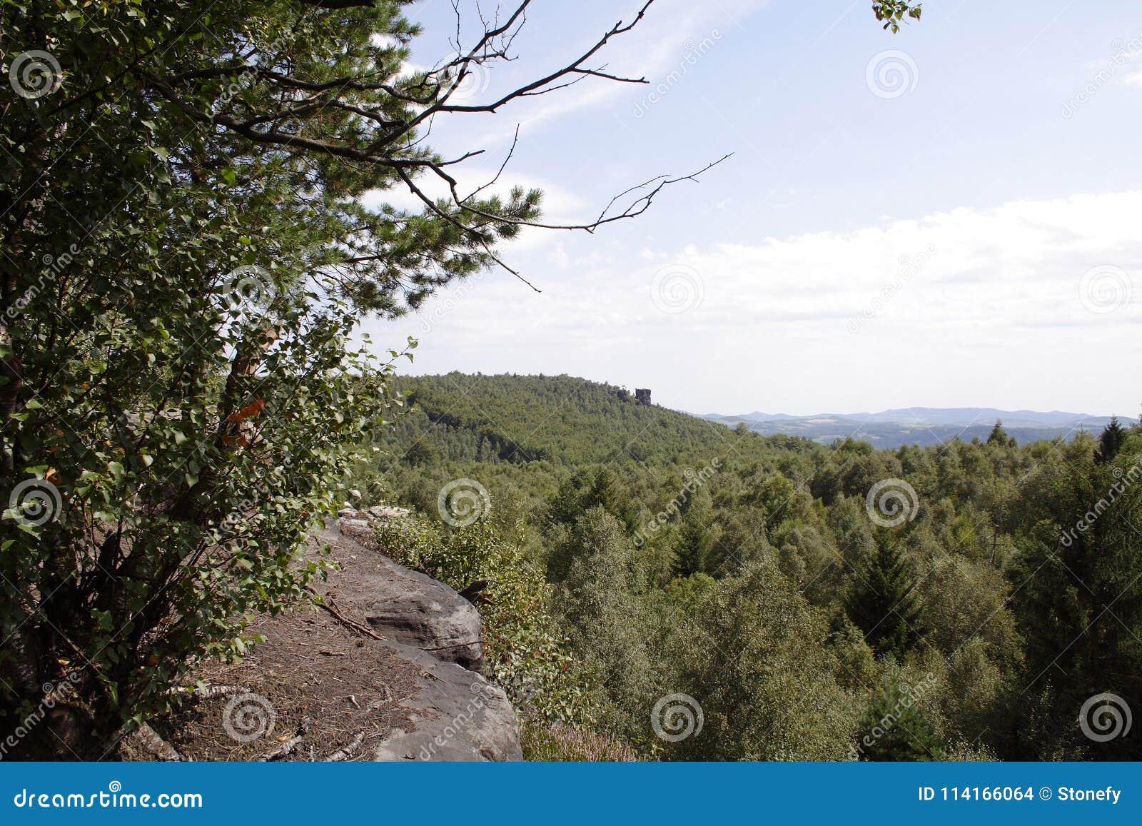 Piccola cima della scogliera della collina