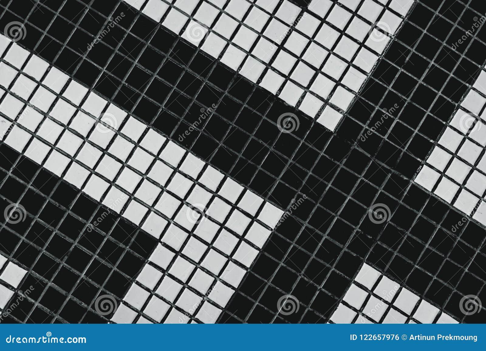 Piccola piastrella per pavimento quadrata in bianco e nero del