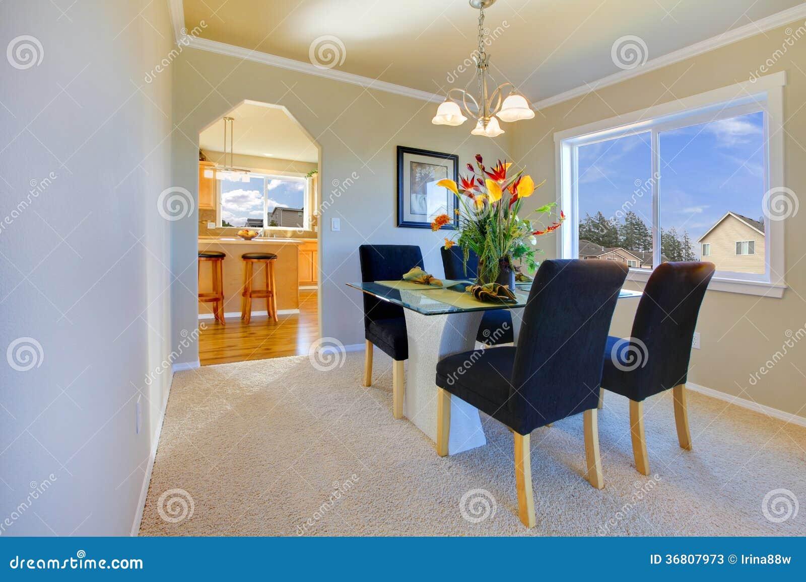 Piccola Sala Da Pranzo : Piccola sala da pranzo moderna immagine stock immagine di disegno