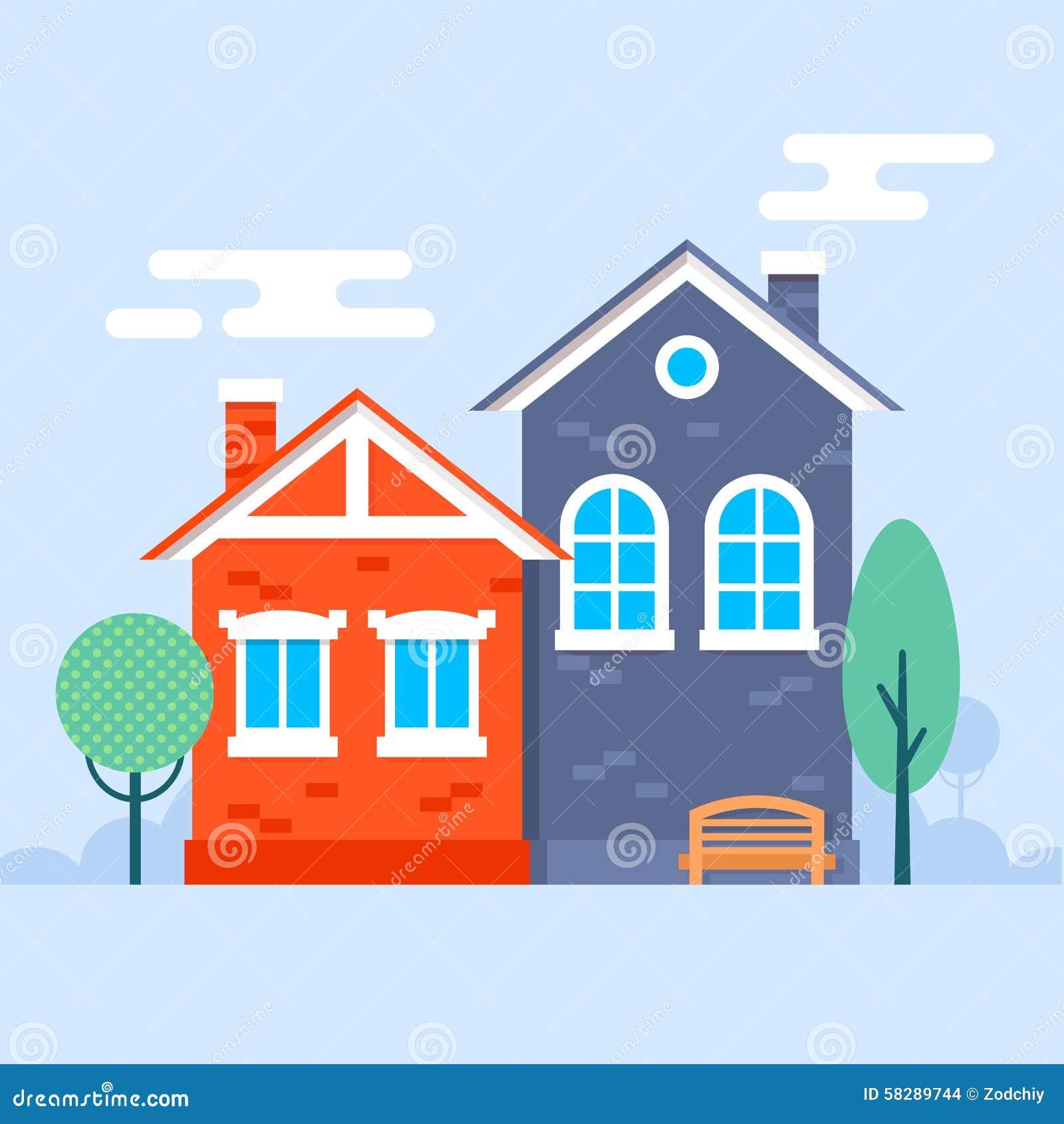 Piccole case dolci illustrazione vettoriale illustrazione for Piccole case di rinascita greca