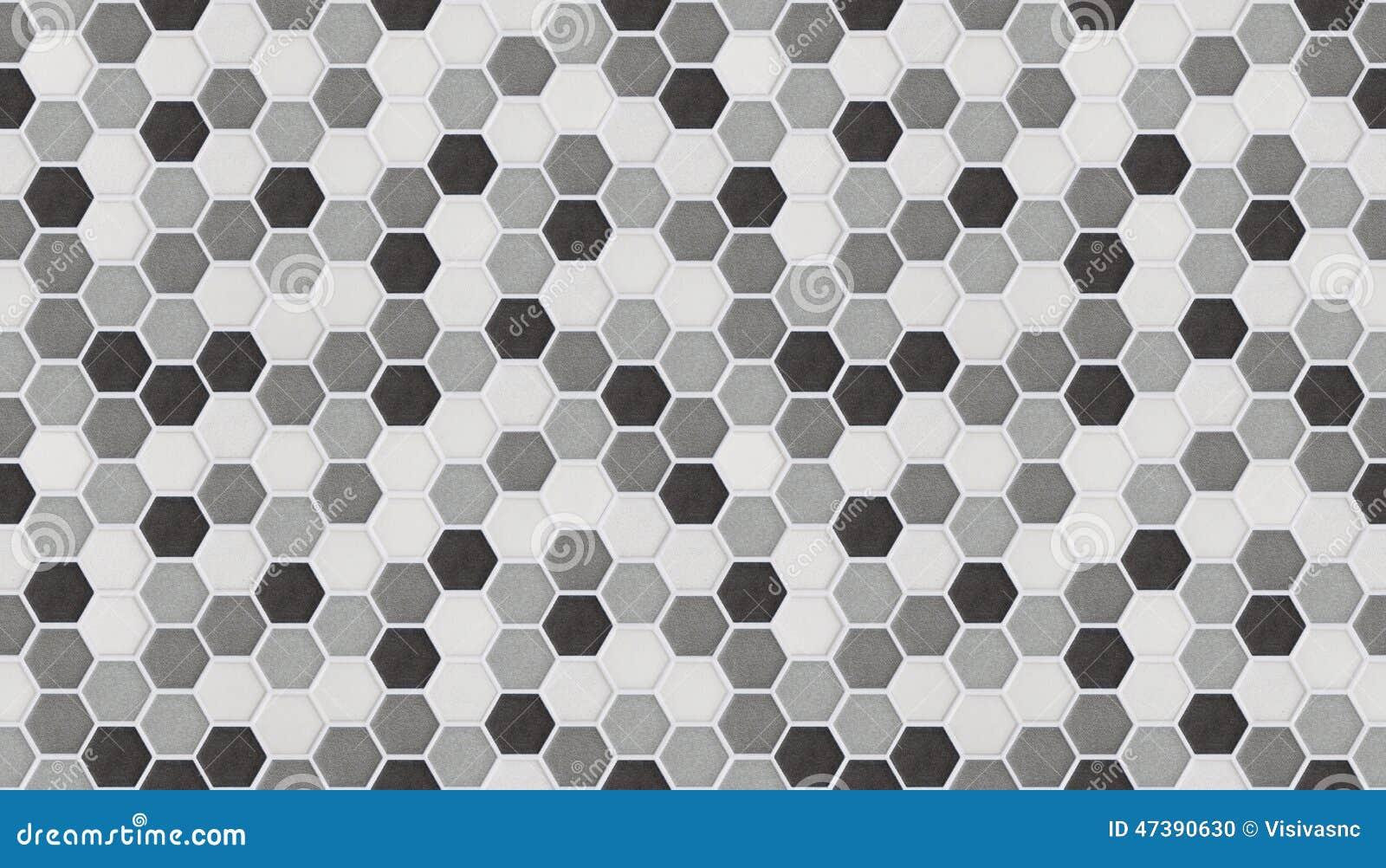 Piccole mattonelle esagonali senza cuciture di marmo - Piastrelle esagonali ...