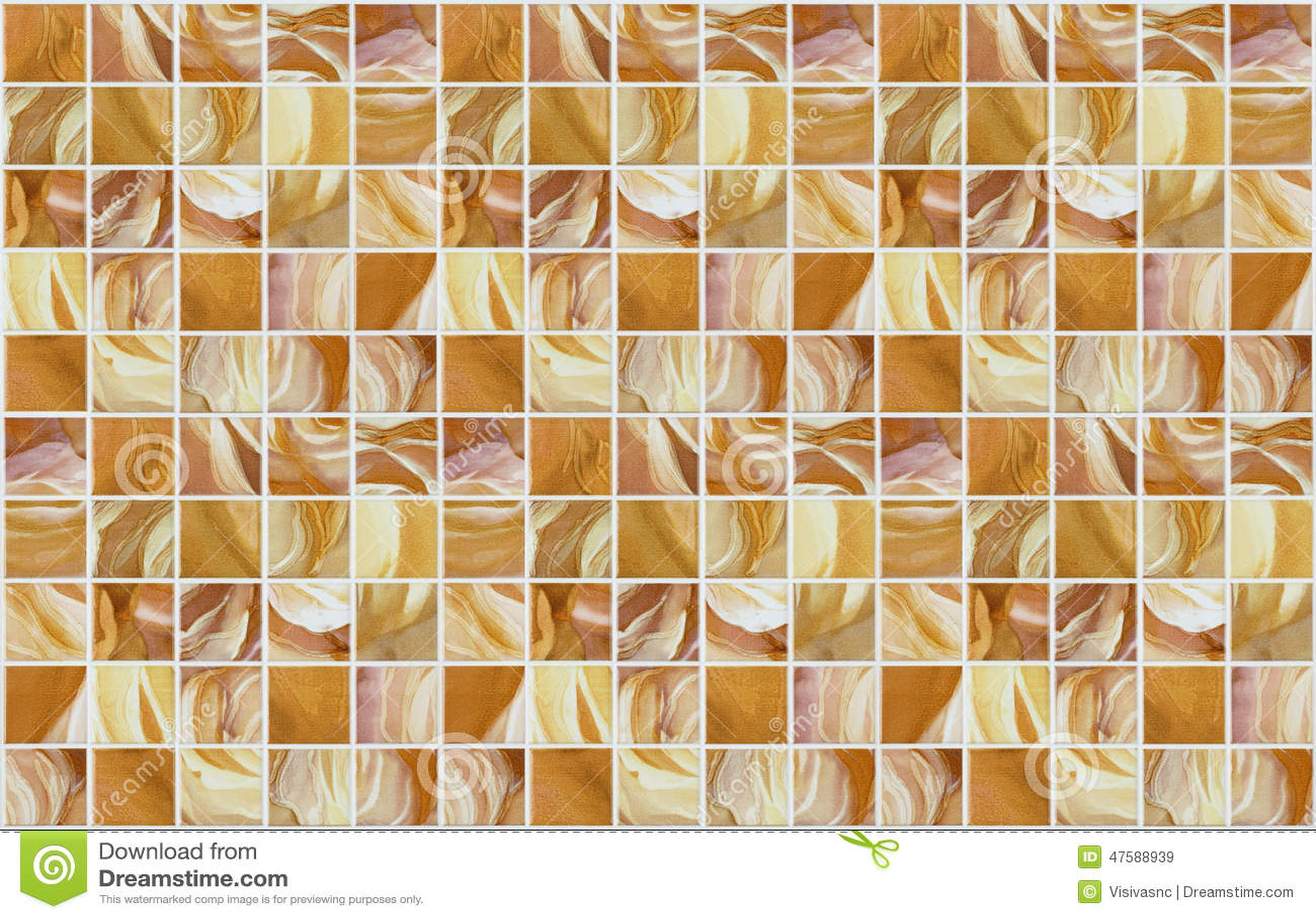 Piccole mattonelle quadrate di marmo con gli effetti di colore