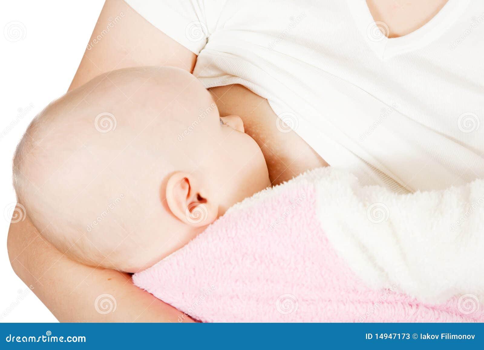 Piccolo bambino che allatta al seno