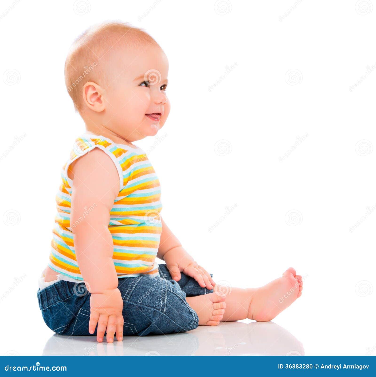 Download Piccolo bambino felice fotografia stock. Immagine di isolato - 36883280