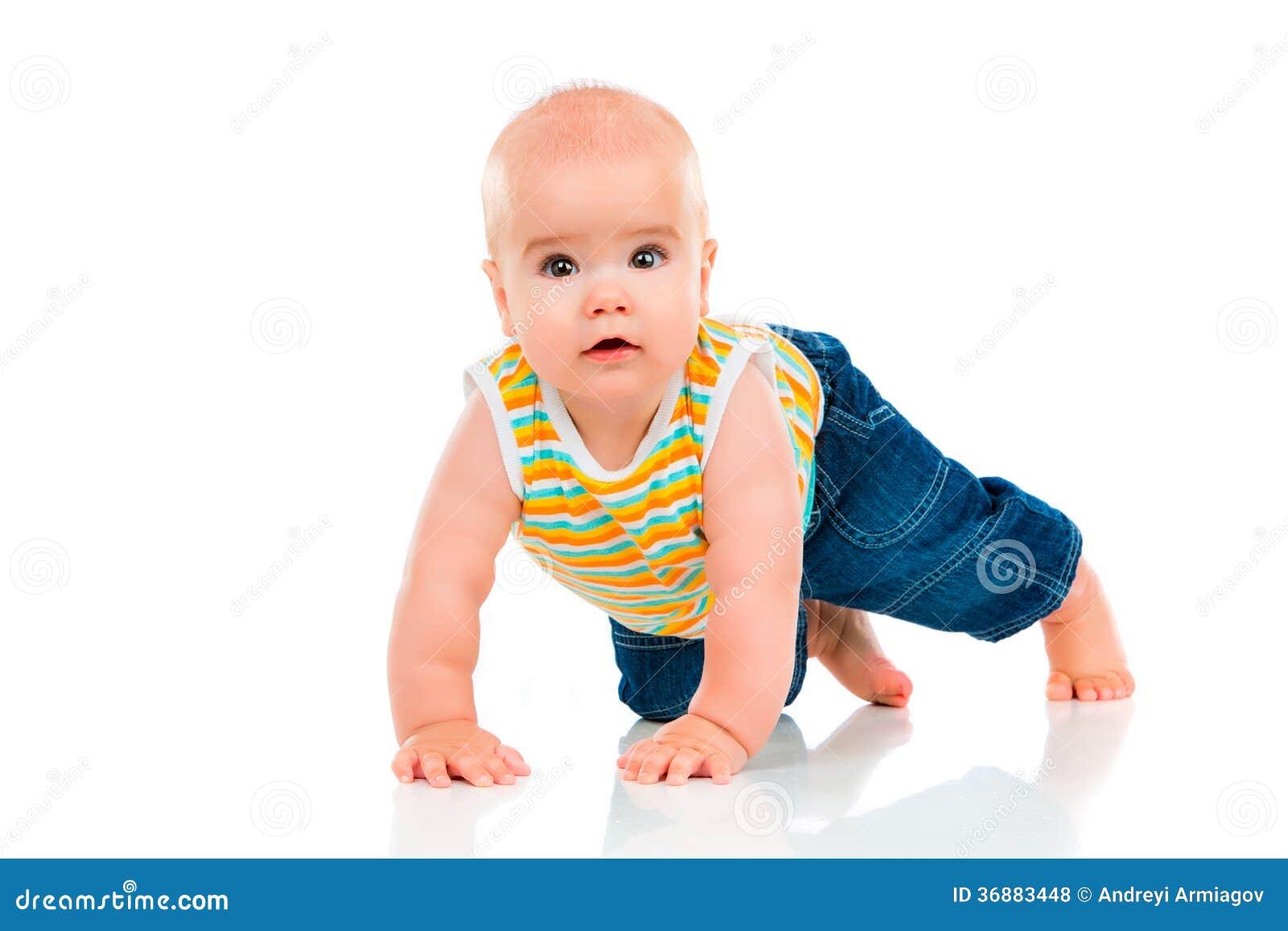 Download Piccolo bambino felice fotografia stock. Immagine di felicità - 36883448