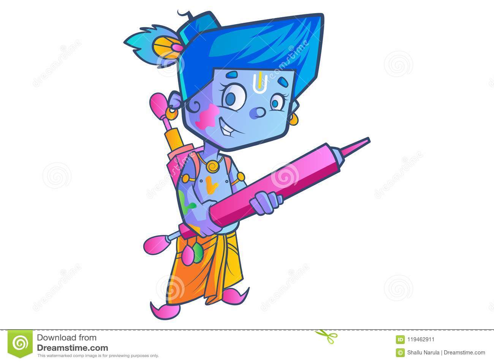 Piccolo Lord Krishna sveglio