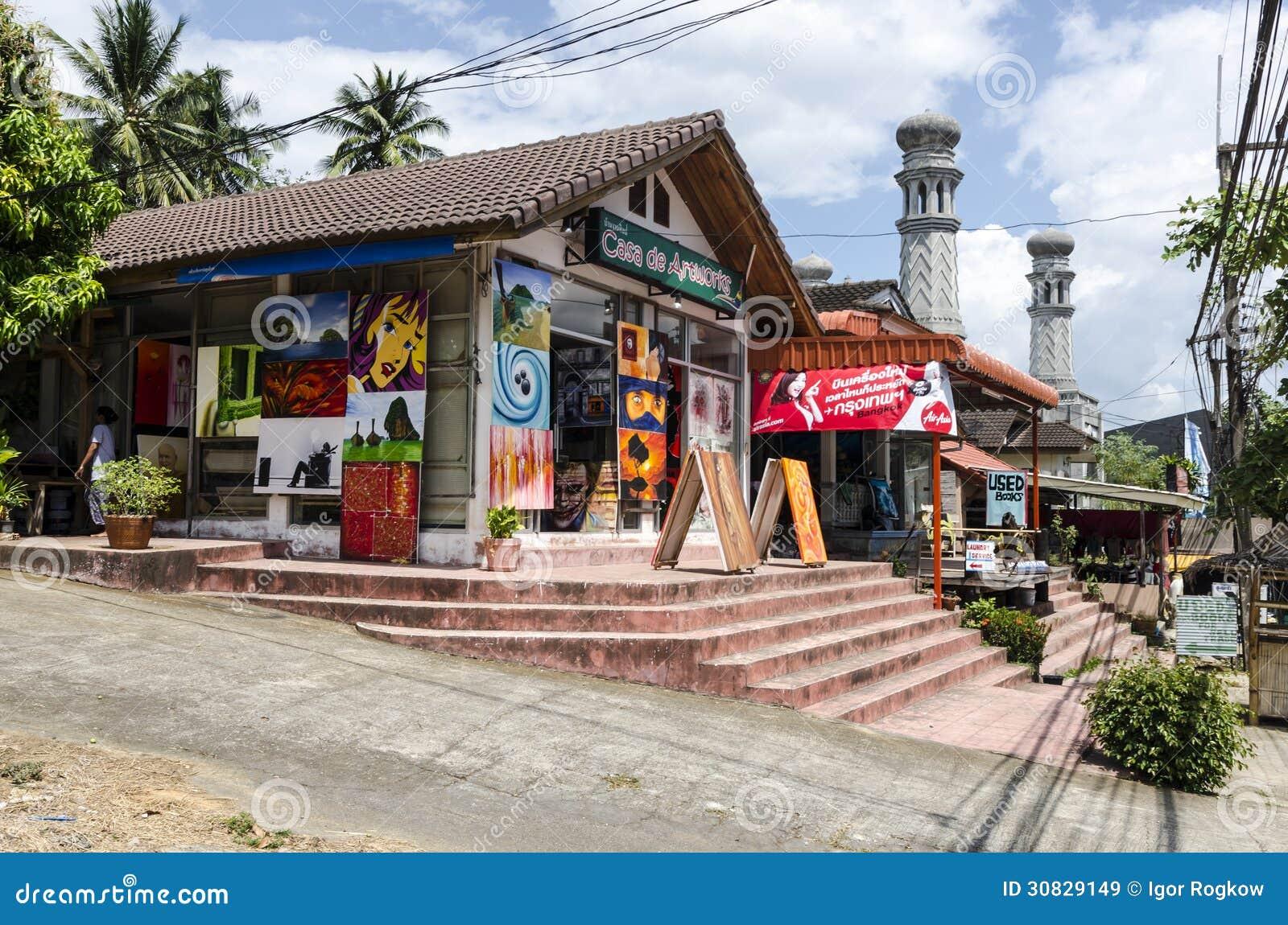 Piccolo negozio nello stile tailandese.