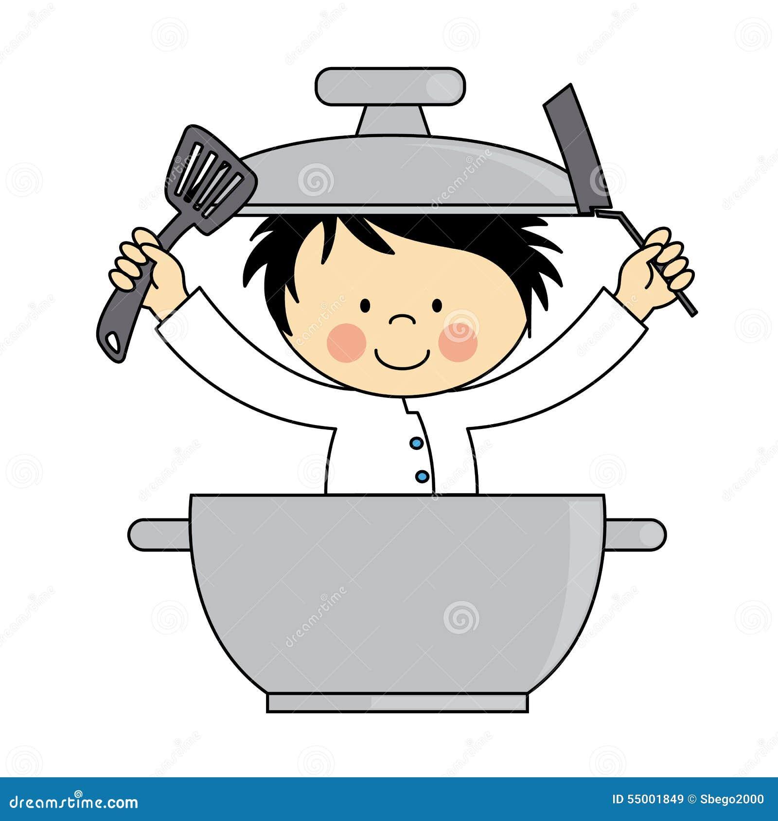 Piccolo ragazzo del cuoco unico