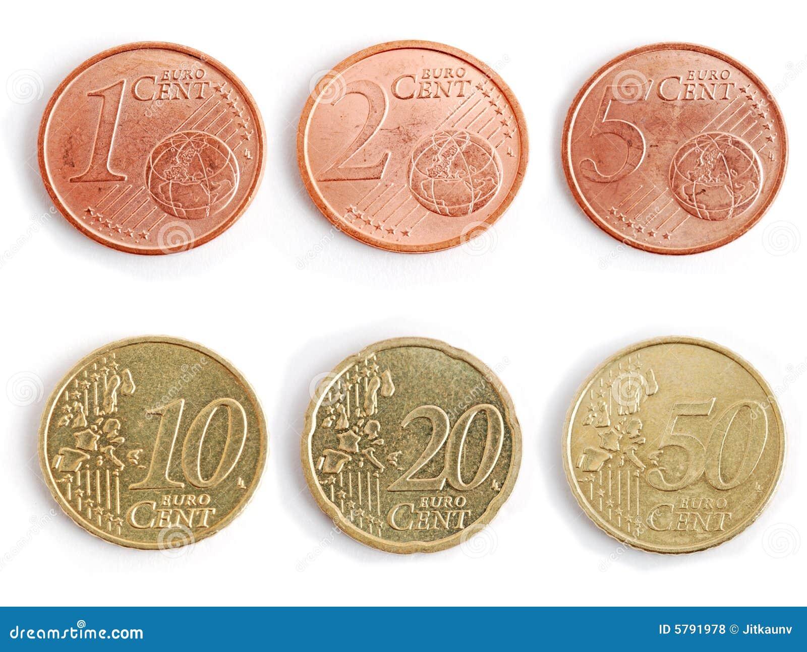 pi ces de monnaie euro photos libres de droits image 5791978. Black Bedroom Furniture Sets. Home Design Ideas