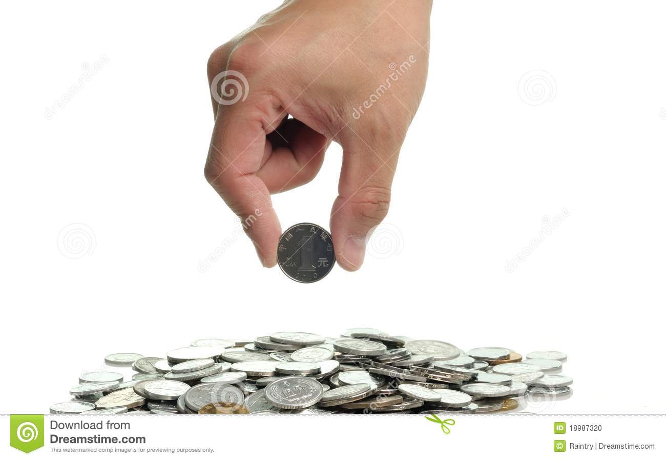 Pick up a coin stock photo. Image of market, cash, buying - 18987320