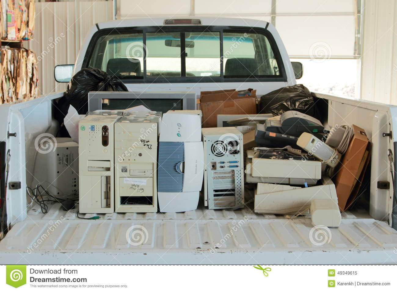 Pick Up Truck Filled With E Waste Editorial Image Image