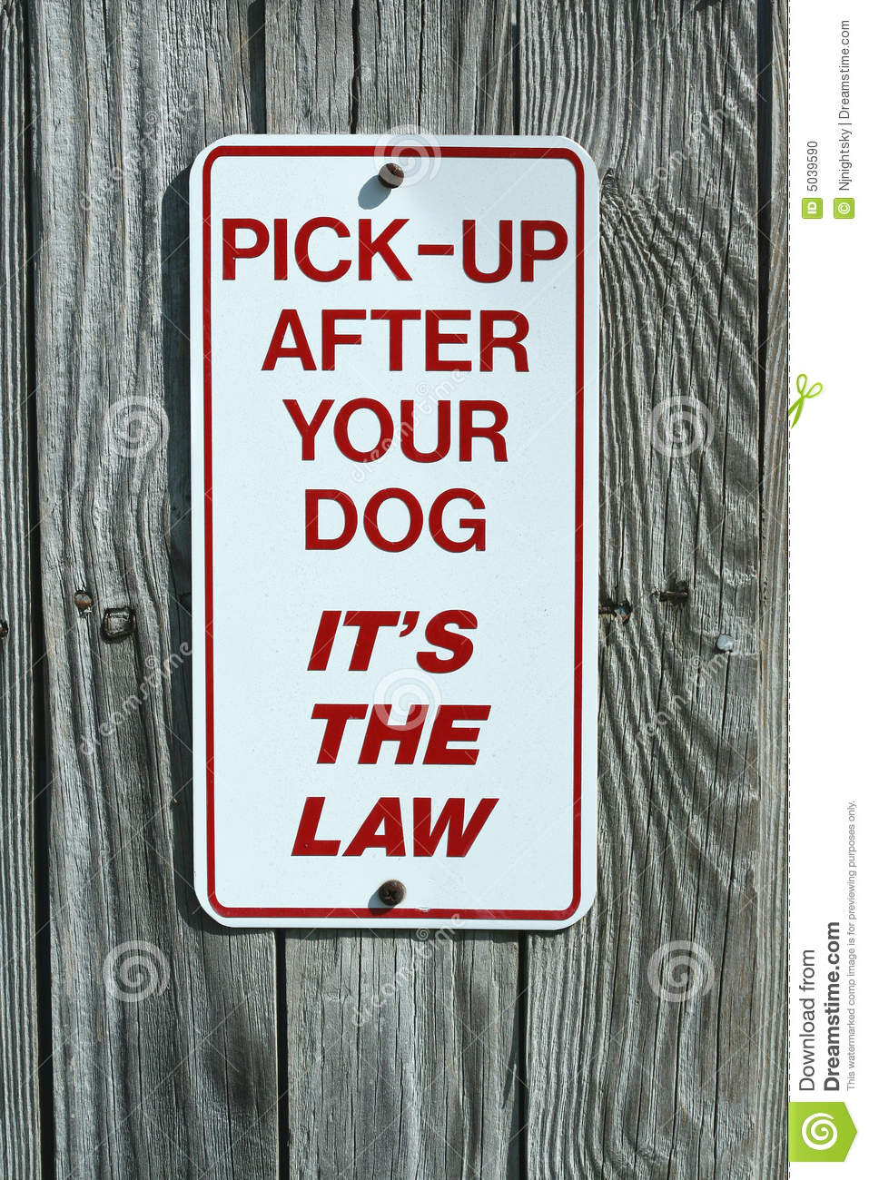 Pick Up After Your Dog Stock Photo Image Of Wood Pooper