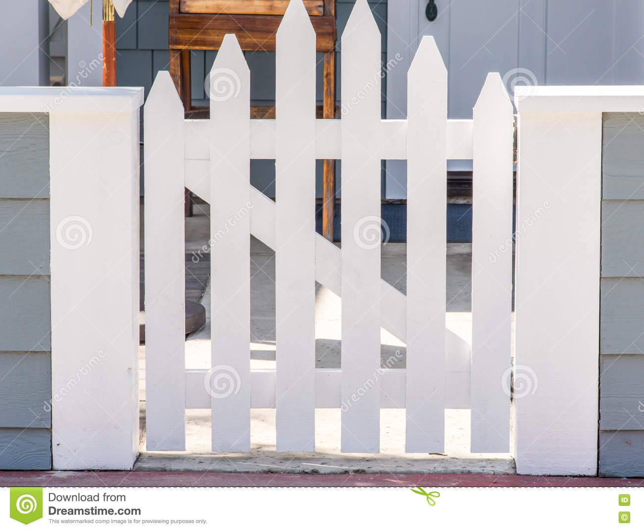 Picket gate stock image. Image of rural, nice, fence - 74506839