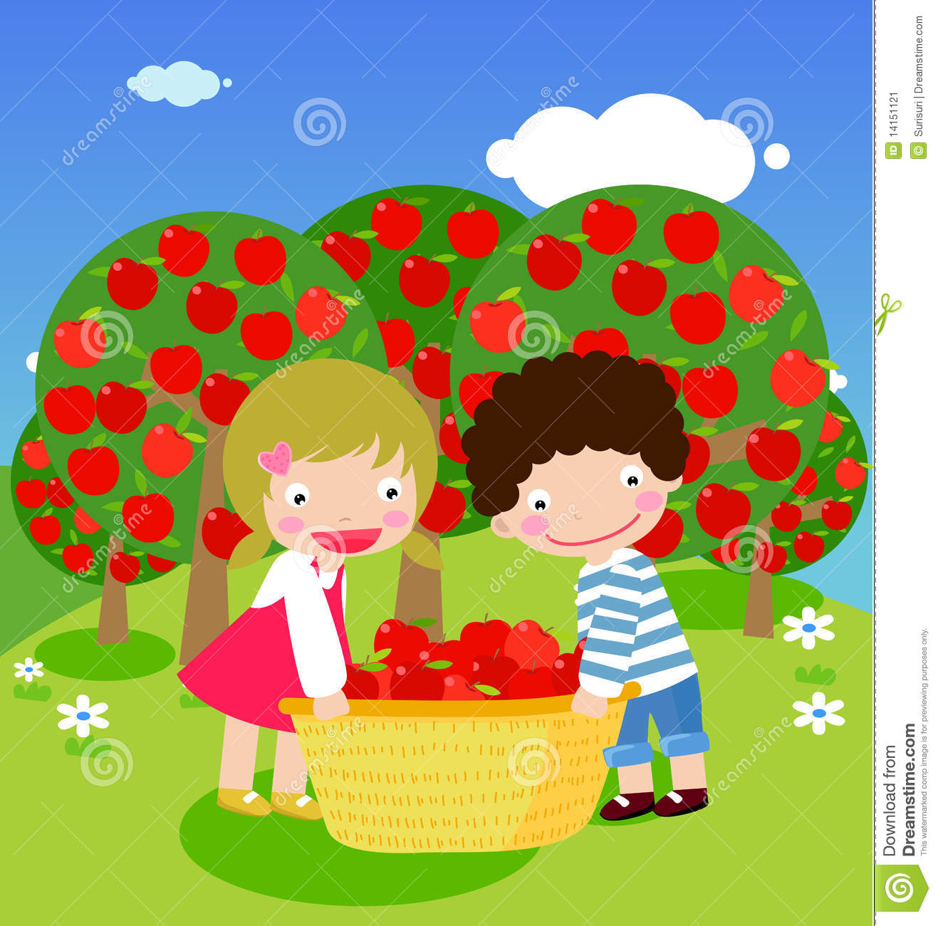 ... Free Pictures, Images and Photos Boy And Girl Clip Art With Apple S