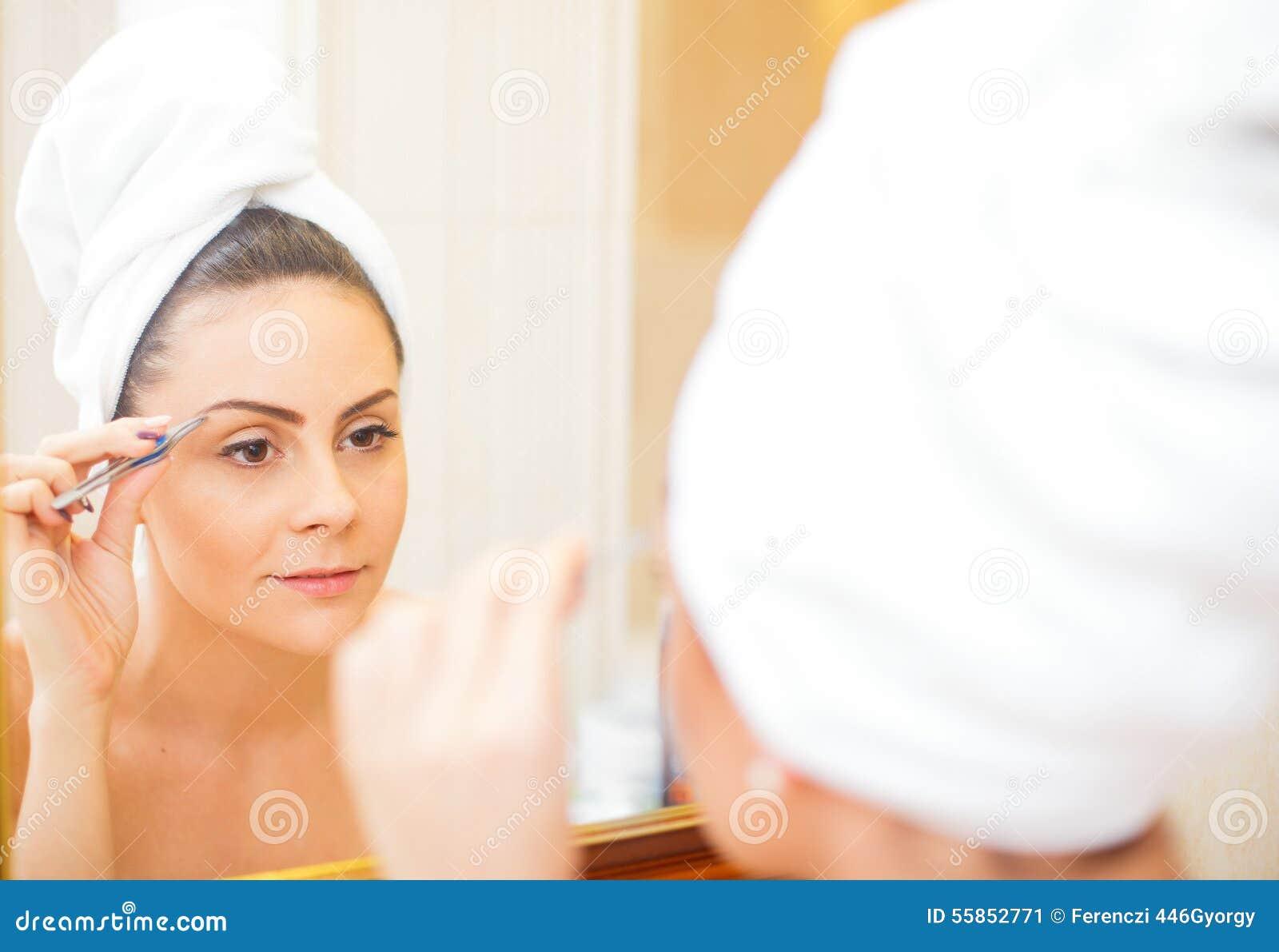 Picking Eyebrows Stock Image Image Of Body Take Eyebrow 55852771