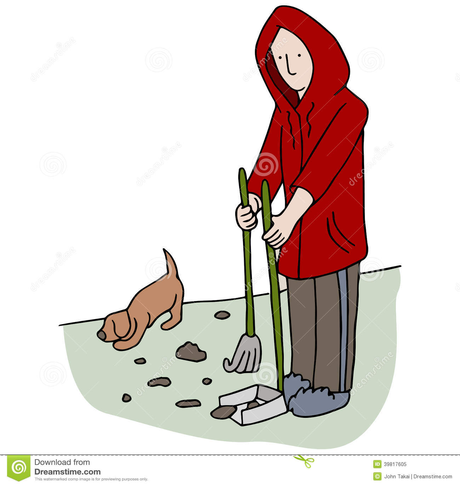 Picking Up Dog Poop Stock Vector - Image: 39817605