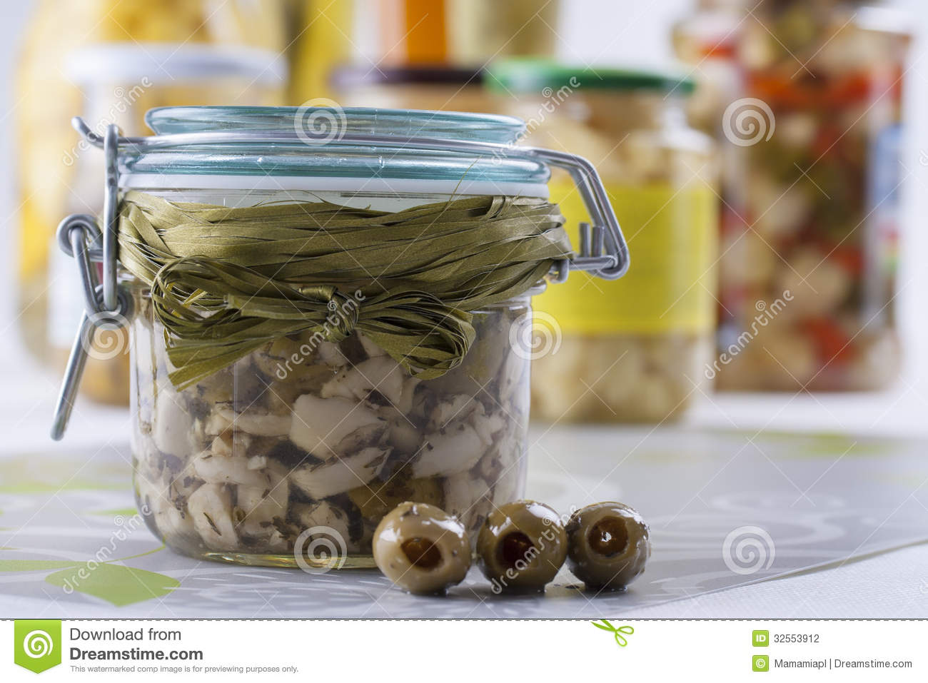 Pickle Jar Stock Photo Image Of Organic Bright Agaricus 32553912
