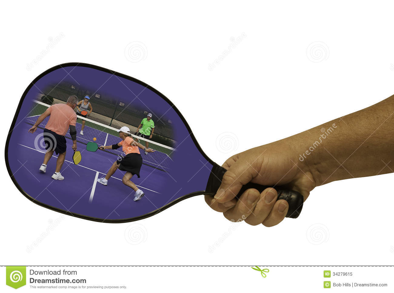 Pickleball Action In A Paddle Royalty Free Stock Photo ...
