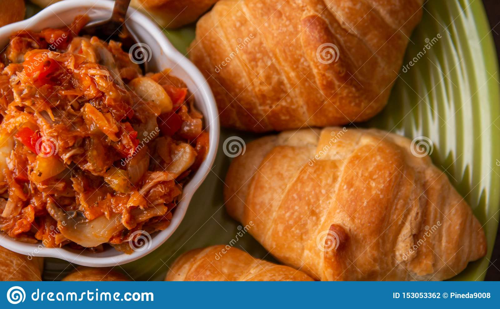 Pickled with bread