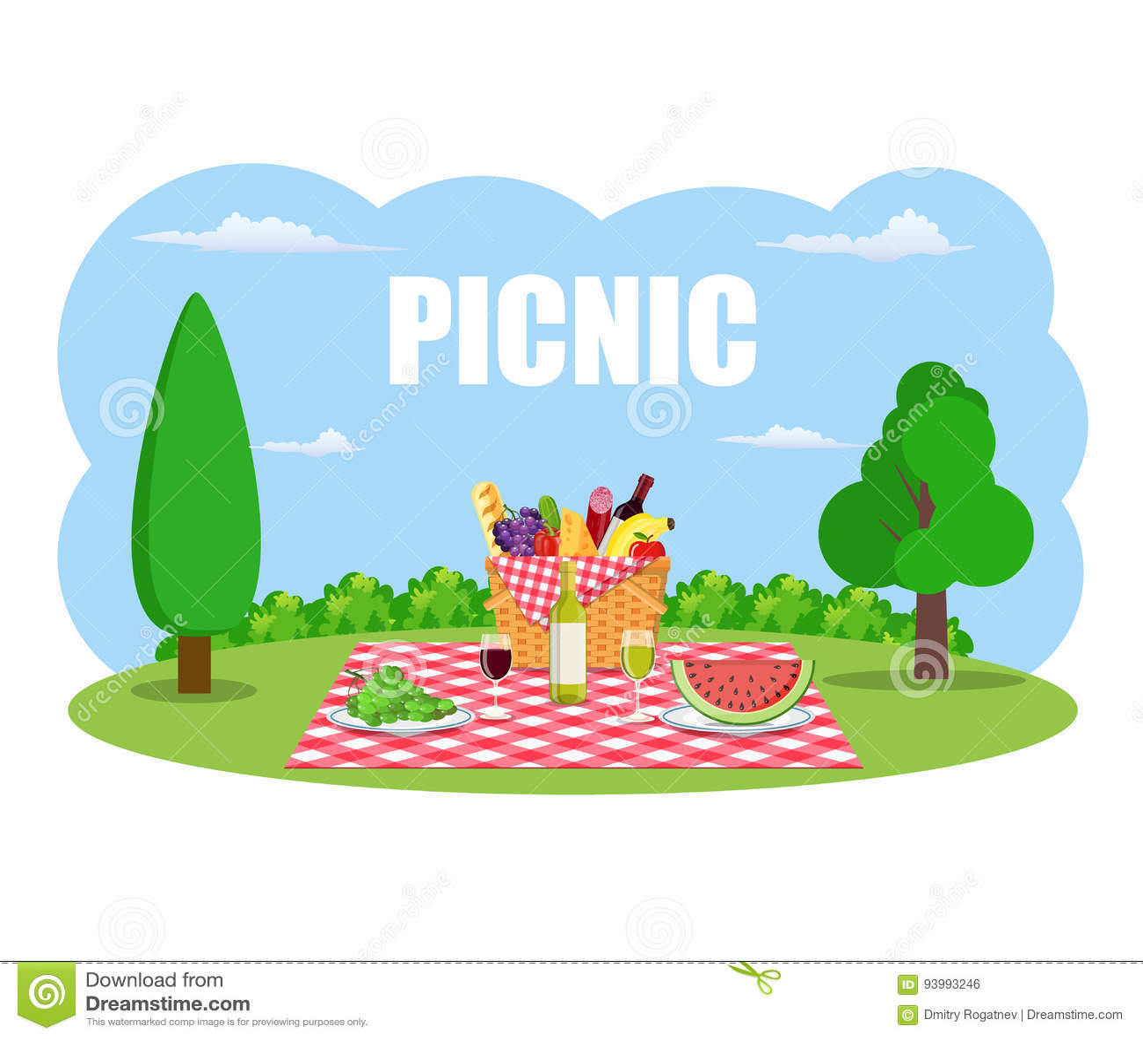 Picknick im Freien im Park