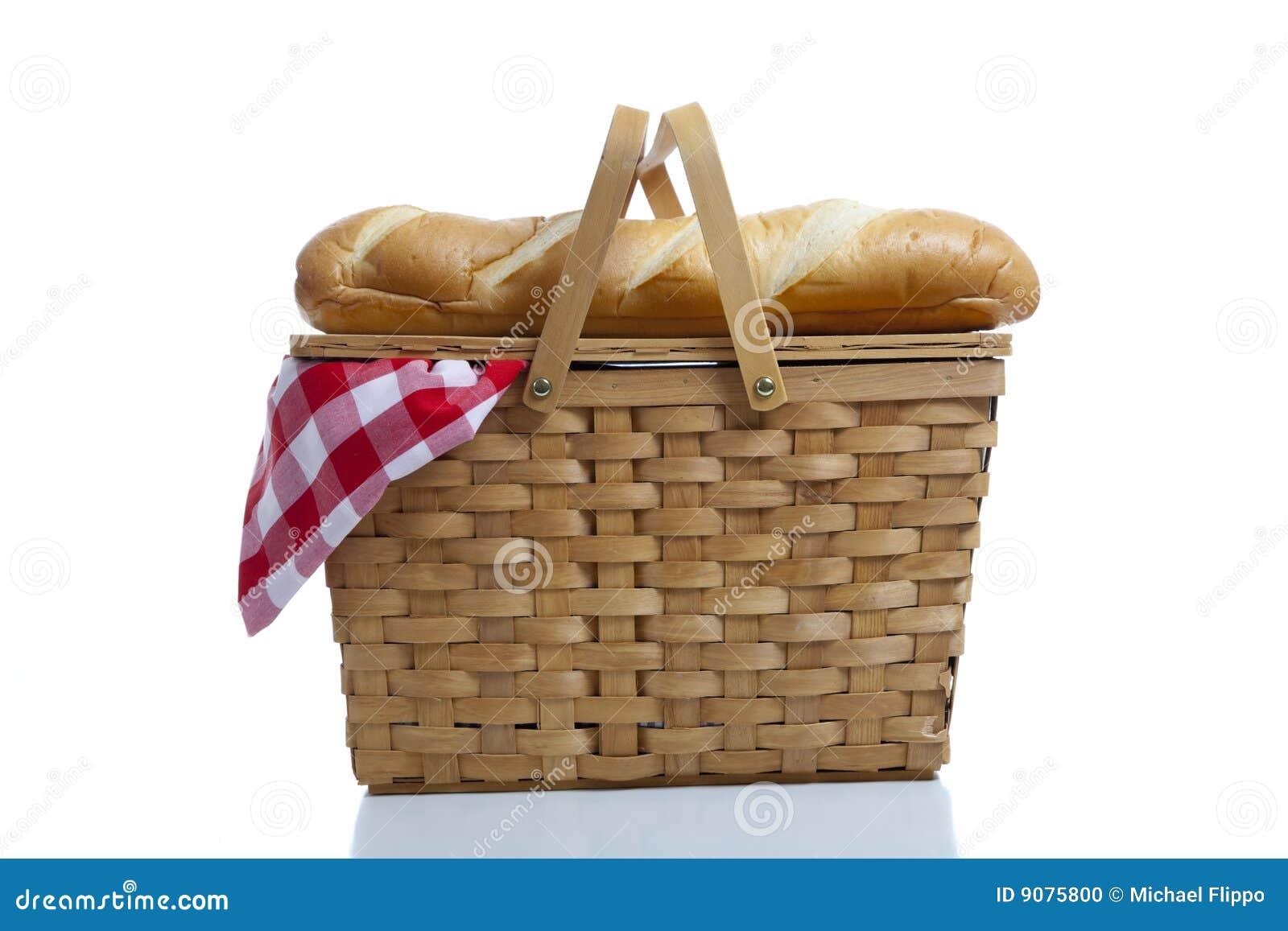 Picknick-Korb mit Gingham